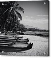 Sugar Beach Hawaiian Outrigger Canoes Kihei Maui Hawaii  Acrylic Print