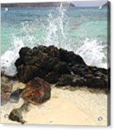 Sugar Beach Splash Acrylic Print