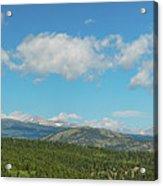 Sugar Magnolia Summer Rocky Mountain Peaks Panorama View Acrylic Print