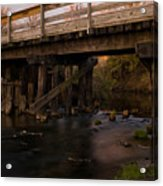 Sugar River Trestle Wisconsin Acrylic Print