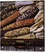 Suitcase Full Of Indian Corn Acrylic Print
