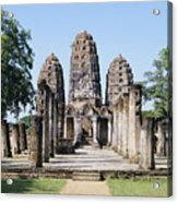 Sukhothai Khmer Sanctuary Acrylic Print