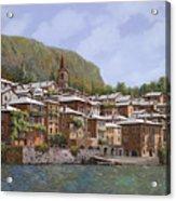 Sul Lago Di Como Acrylic Print by Guido Borelli