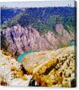 Sulak Canyon Acrylic Print