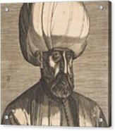 Suleyman The Magnificent , Engraved By Melchior Lorck Acrylic Print