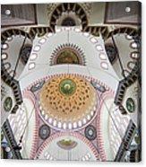 Suleymaniye Mosque Ceiling Acrylic Print