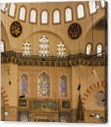 Suleymaniye Mosque Interior Acrylic Print