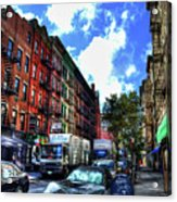Sullivan Street In Greenwich Village Acrylic Print by Randy Aveille