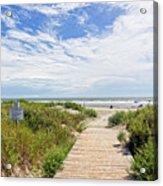 Sullivans Island Beach Entrance Two Acrylic Print