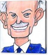 Sully Sullenberger Caricature Acrylic Print