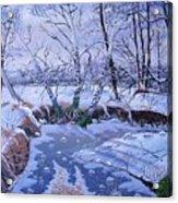 Sulphur Creek Snowfall Acrylic Print