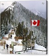 Sulphur Mountain In Banff National Park In The Canadian Rocky Mountains Acrylic Print