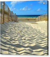 Sultry September Beach Acrylic Print