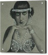 Sultry Silent Star -- Portrait Of Silent Film Star Acrylic Print