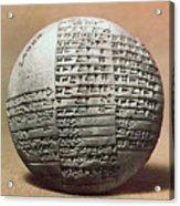 Sumerian Cuneiform Acrylic Print
