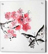 Sumi -e Butterfly Acrylic Print