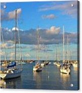 Summer Afternoon At Rockport Harbor Acrylic Print