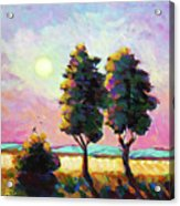Summer Afternoon In The Fields Acrylic Print