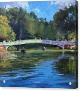 Summer Afternoon On The Lake, Central Park Acrylic Print