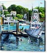 Summer At The Madfish Wharf Acrylic Print