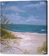 Summer Beach And Sea Grasses Acrylic Print