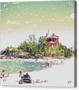 Summer Beach Sunshine Acrylic Print