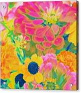 Summer Blossoms - Pop Art Acrylic Print