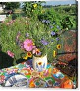 Summer Breakfast In The Garden Acrylic Print
