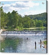 Summer By The Spillway Acrylic Print
