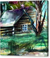 Summer Cabin Acrylic Print by Mindy Newman