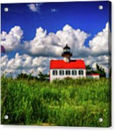 Summer Clouds At East Point Acrylic Print