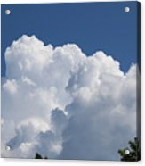 Summer Clouds In Maine Acrylic Print