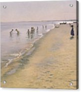 Summer Day At The South Beach Of Skagen Acrylic Print
