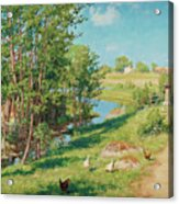 Summer Day By The Stream Acrylic Print
