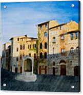 Summer Evening In San Gimignano Acrylic Print