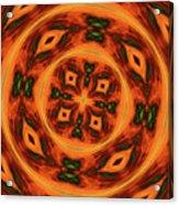 10697 Summer Fire Mask 54 Kaleidoscope 2 Acrylic Print