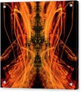 10658 Summer Fire Mask 58 - Dance Of The Fire Queen Acrylic Print