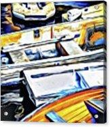 Summer Fishing Boats Acrylic Print
