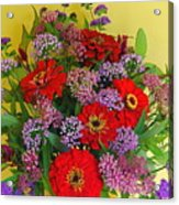 Summer Flower Bouquet Acrylic Print