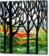 Summer Forest Abstract  Acrylic Print