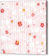 Summer Garden Floral Pattern Acrylic Print