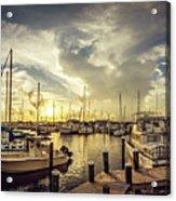 Summer Harbor Sunset Acrylic Print