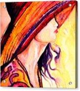 Summer Hat Acrylic Print