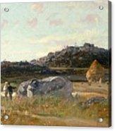 Summer Landscape Acrylic Print by Luigi Loir