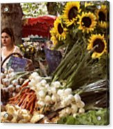 Summer Market In Provence Acrylic Print