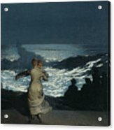 Summer Night Acrylic Print by Winslow Homer
