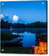 Summer Nights On The Pond Acrylic Print