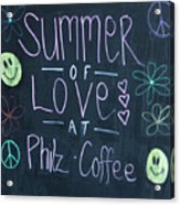 Summer Of Love At Philz Coffee Acrylic Print