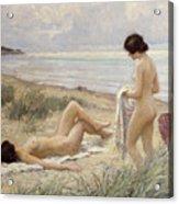 Summer On The Beach Acrylic Print by Paul Fischer