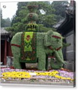 Summer Palace Elephant Acrylic Print